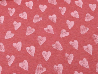 úplet hearts srdíčka melange rosa