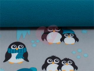 softshell nano tučňáci petrol