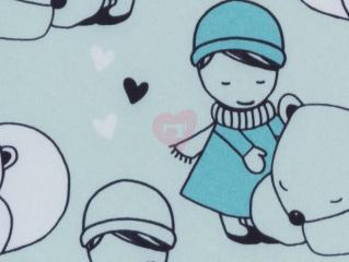 softshell nano holčička a lední medvěd mint