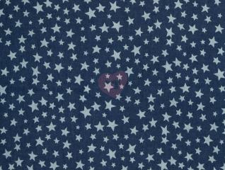 denim tmavý modrý hvězdy softshell