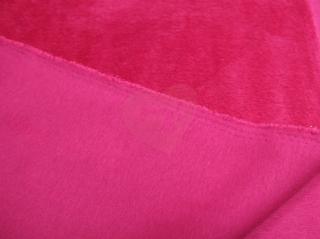 alpenfleece růžová plys