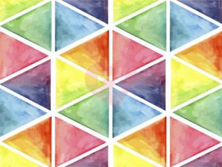 Teplákovina trojúhelníky barevné