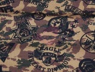 teplákovina military nepočesaná