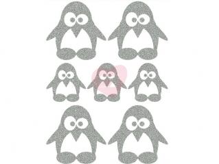 reflexní nažehlovačka potisk tučňáci
