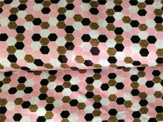 teplákovina hexagon včelí plástev