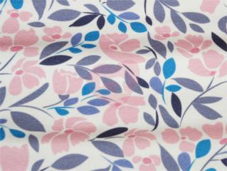 teplákovina květy růžové a modré