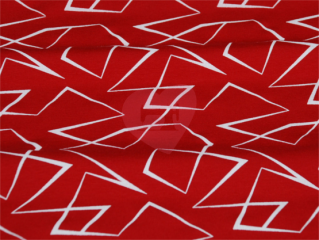 teplákovina geometrické vzory červená
