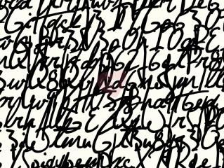 Úplet avalana černé písmo na bílé