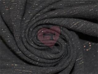 teplákovina s lurexem temně šedá