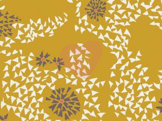 Květinový vzor úplet AGF art gallery fabrics