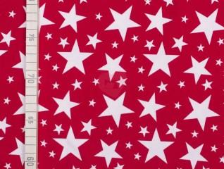 hvězdy bílé na červené detail