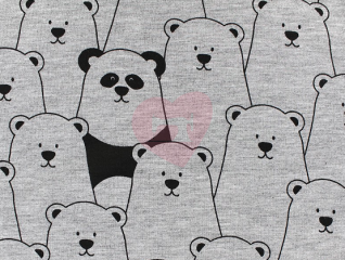 medvědi na šedé detail