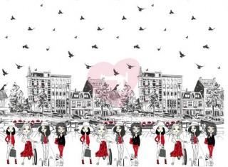 bordura úplet panel holčičky ve městě