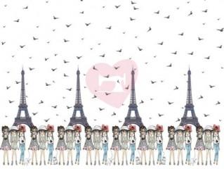 Eiffelovka dívky úplet