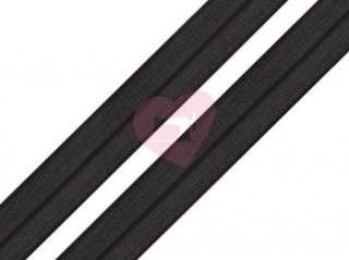 lemovací pruženka půlená 19mm černá
