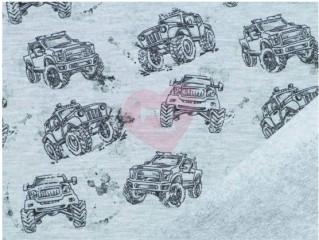 teplákovina monster truck modrá počesaná