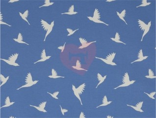 interlock kenny ptáci na modrém