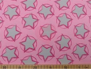 bio úplet jersey růžové hvězdy