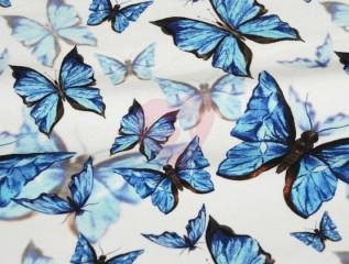 teplákovina 3D motýli