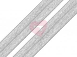 lemovací pruženka půlená 19mm světle šedá