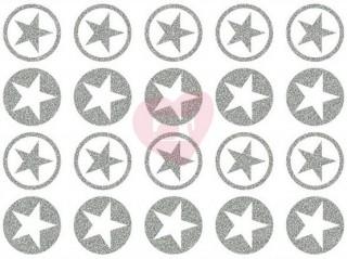 nažehlovačka nažehlovací potisk hvězdy