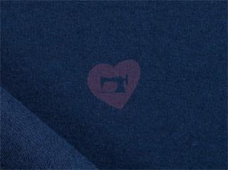 teplákovina modrá granát nepočesaná