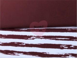 teplákovina nepočesaná hnědá burgundy
