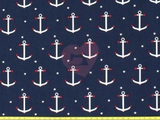 úplet kotvy námořnická modrá