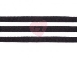 oděvní šňůra plochá 17mm bavlněná černá
