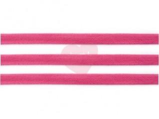 plochá šňůra 17mm bavlněná růžová fuchsiová