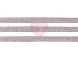 oděvní šňůra plochá 17mm bavlněná světle šedá