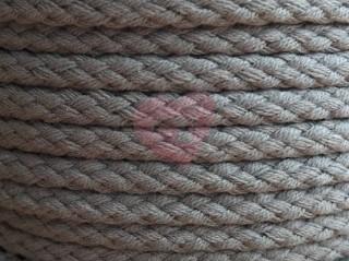 oděvní šňůra kulatá 5,3mm bavlněná krémová šedá