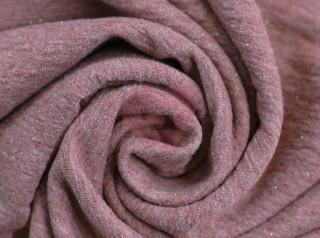 teplákovina růžová s lurexem