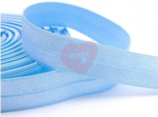 lemovací pruženka půlená 19mm světle modrá baby blue