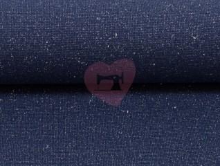 náplet modrý jeans s lurexem