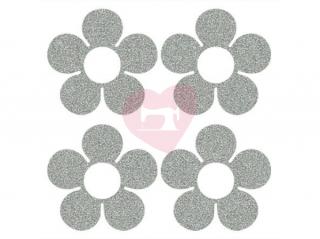 nažehlovačka nažehlovací potisk reflexní kytičky