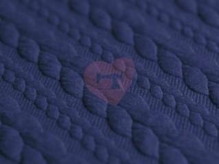 Pletenina cable knit copánky modrá