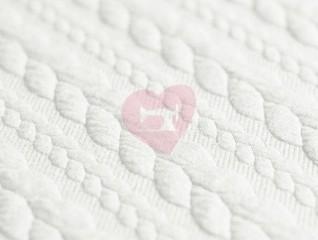 Pletenina cable knit copánky ecru bílá