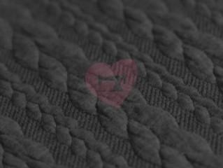 Pletenina cable knit copánky šedá