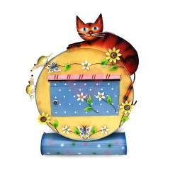 Originální ručně malovaná poštovní schránka kočka