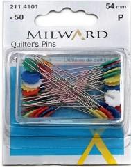Stehovací špendlíky MILWARD 54mm s kytičkou (50ks)