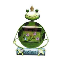Ručně malovaná poštovní schránka žába s korunkou