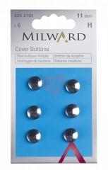 Knoflíky na potahování 11mm z nerezavějící oceli 2252101 Milward