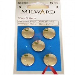 Knoflíky na potahování 19mm z nerezavějící oceli 2252103 Milward