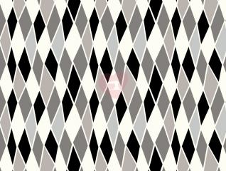 Úplet avalana s geometrickým vzorem černo-šedá 220g