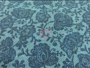 Úplet Little Darling květy na modrém podkladu